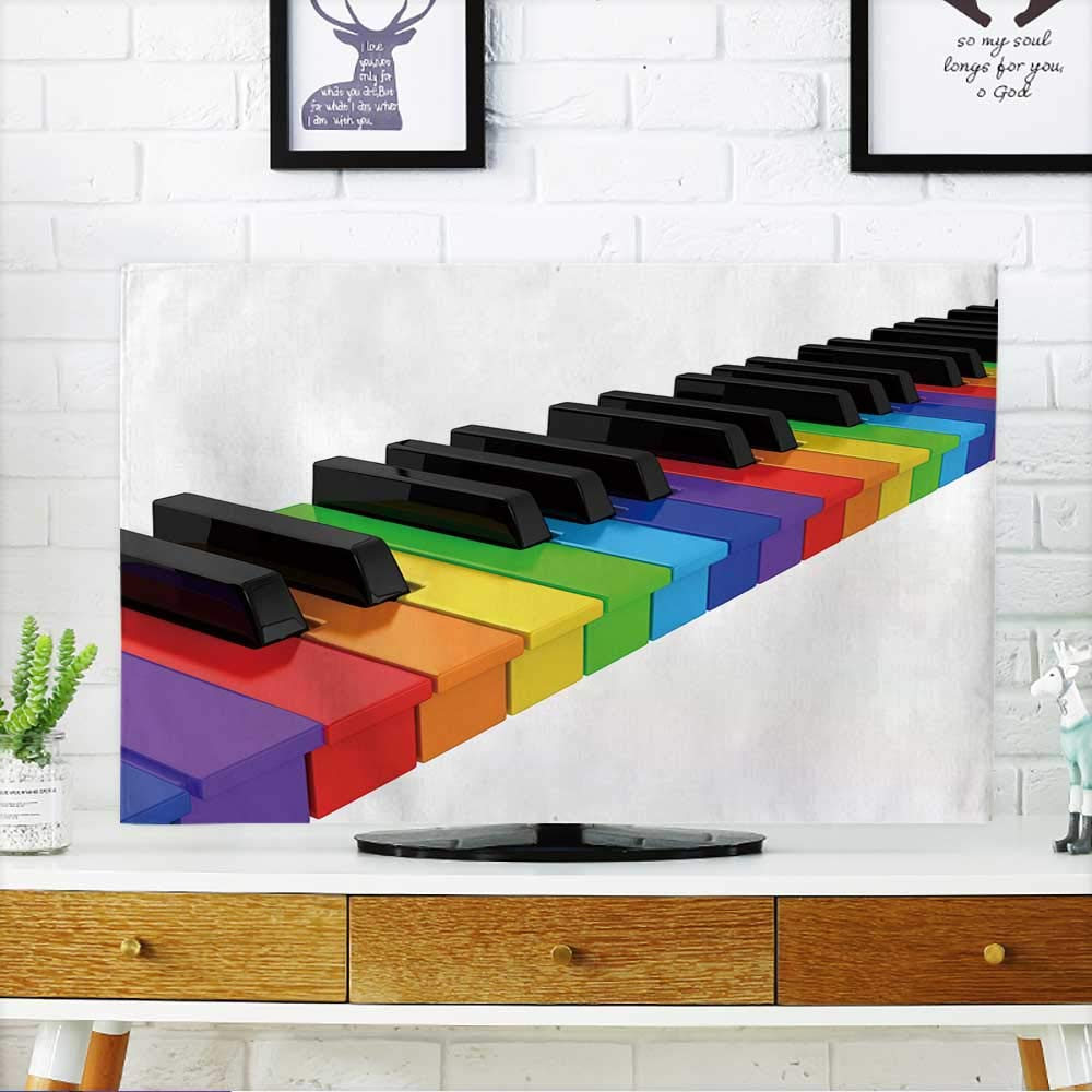 PRUNUS Protect Your TV Rainbow Piano Over White Background Computer generated Image Protect Your TV W20 x H40 INCH/TV 40''-43''