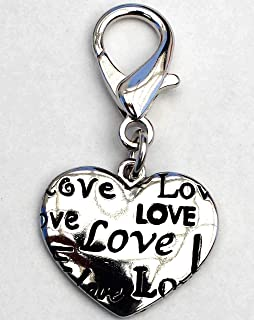 product image for Diva-Dog Heart Collection Dog Collar Charm or Keychain