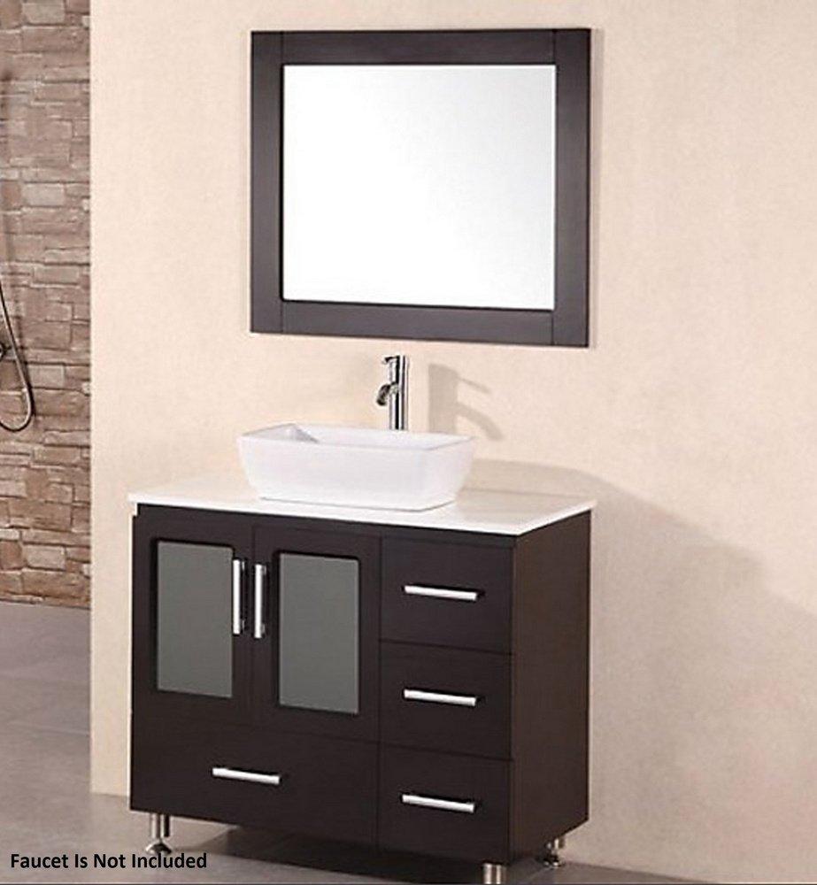 Stanton Espresso Vanity Set w/Single Vessel Sink 36'' by Design Element by Design Element
