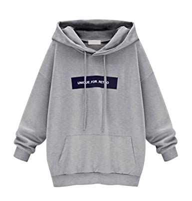3b6c57be6f8 ISSHE Sweat a Capuche Femme Sweat à Capuche Hoodies Pull Large Robe Sweat  Shirt Long Imprimé Sweatshirt Sweat-Shirt Manche Longue Fille Manches  Longues ...