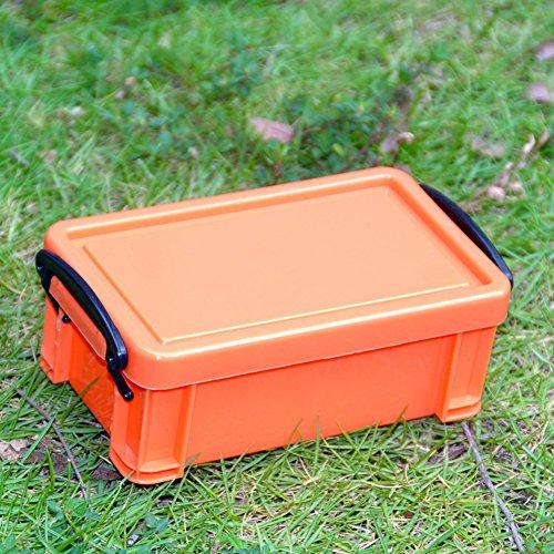 Cajas de almacenamiento, color caramelo, organizador de plástico para el hogar y computadora, contenedor para guardar...