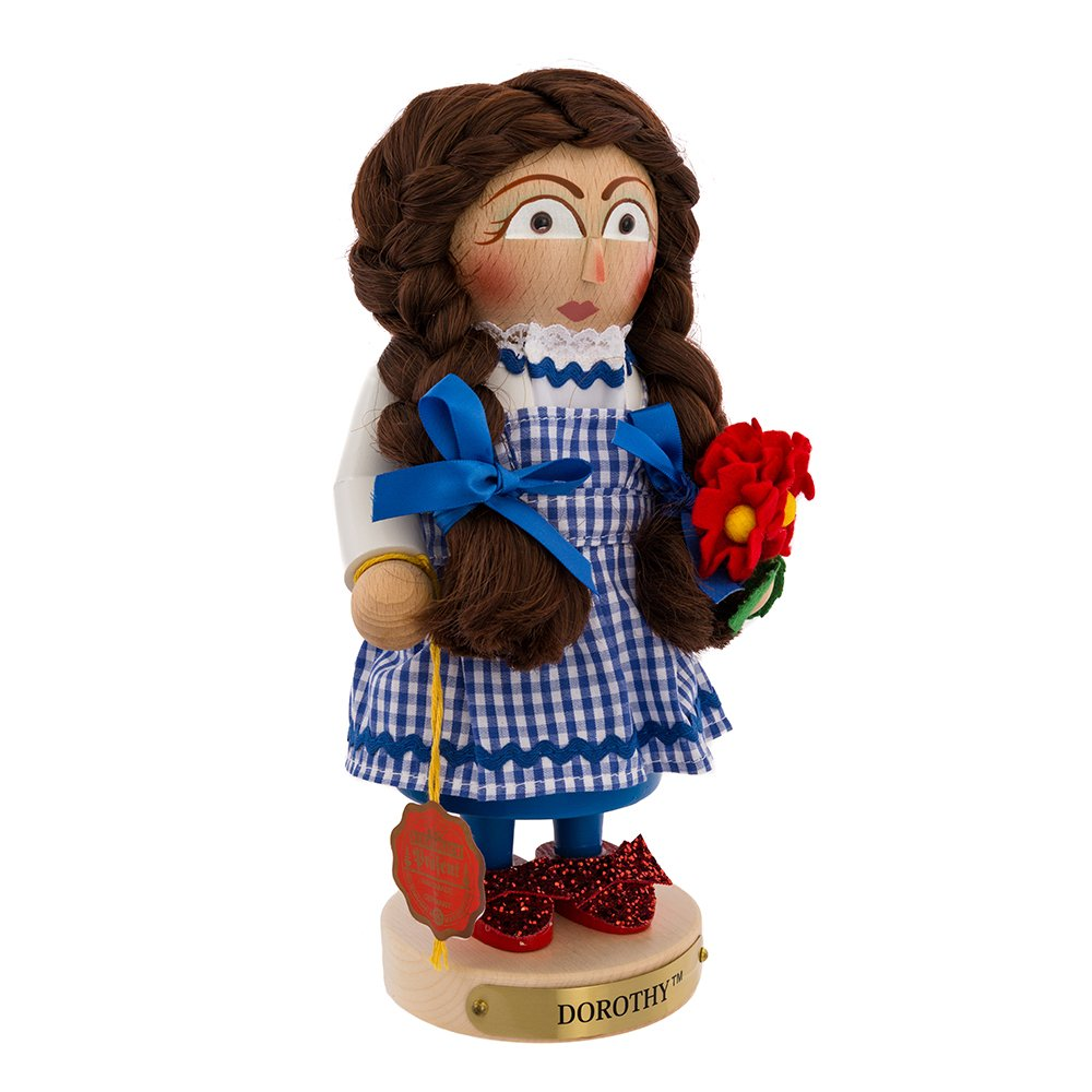 Kurt Adler Steinbach Chubby Wizard of Oz Dorothy Nutcracker, 10-Inch