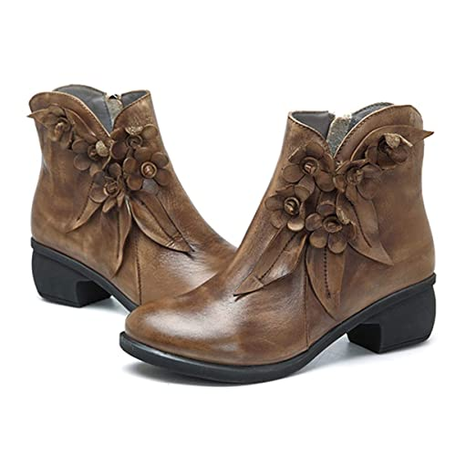 d17b252d0bd47 Socofy Leather Ankle Boots