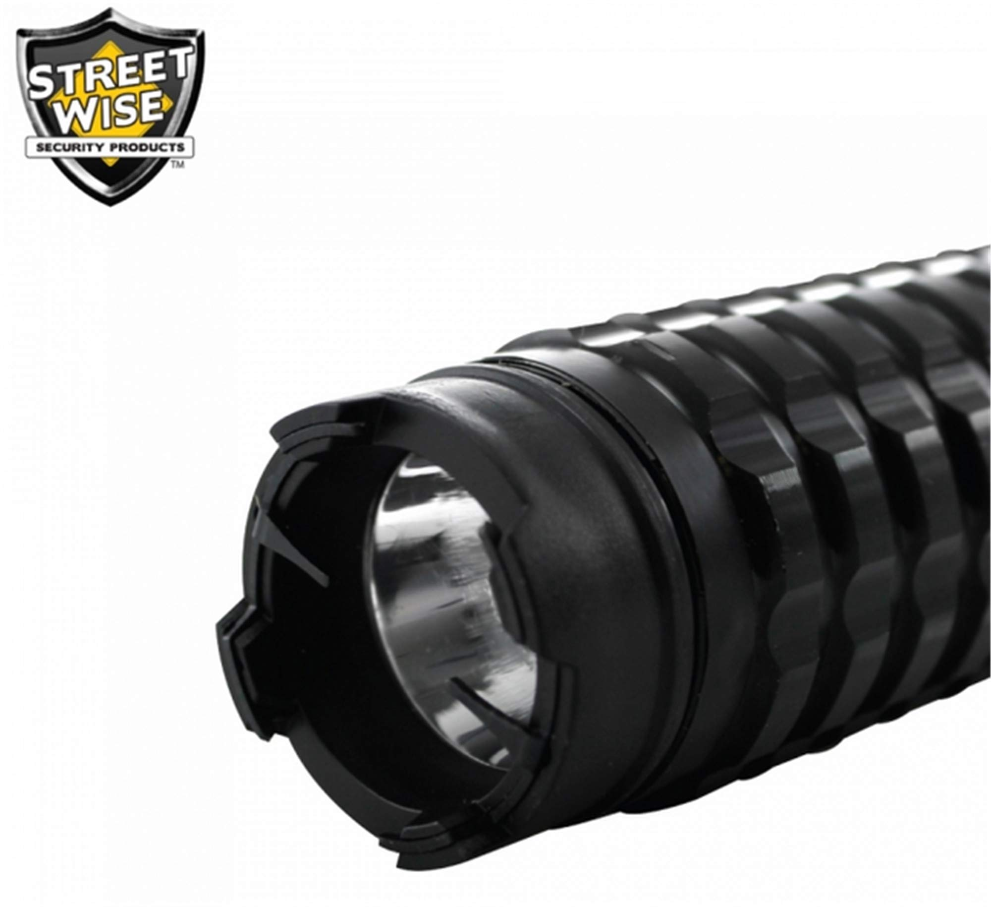 Diamondback Adjustable 13M Extendable Stun Gun 5 Mode Flashlight Rechargeable and Replaceable Batteries with Free Survival Whistle, Holster and Hard Shell Case by Diamondback