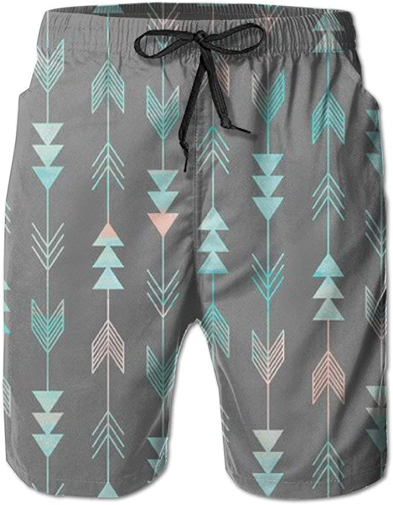 Aztec Arrows Art Print Mens Summer Quick Dry Swim Trunks Cargo Pants Beach Shorts