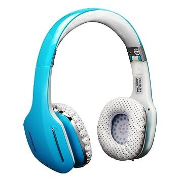 Ausdom M07 Plegables Auriculares Inalámbricos de Diadema (Bluetooth, HiFi Estéreo, Micrófono Incorporado, Compatible con IOS y Android), Azul: Amazon.es: ...