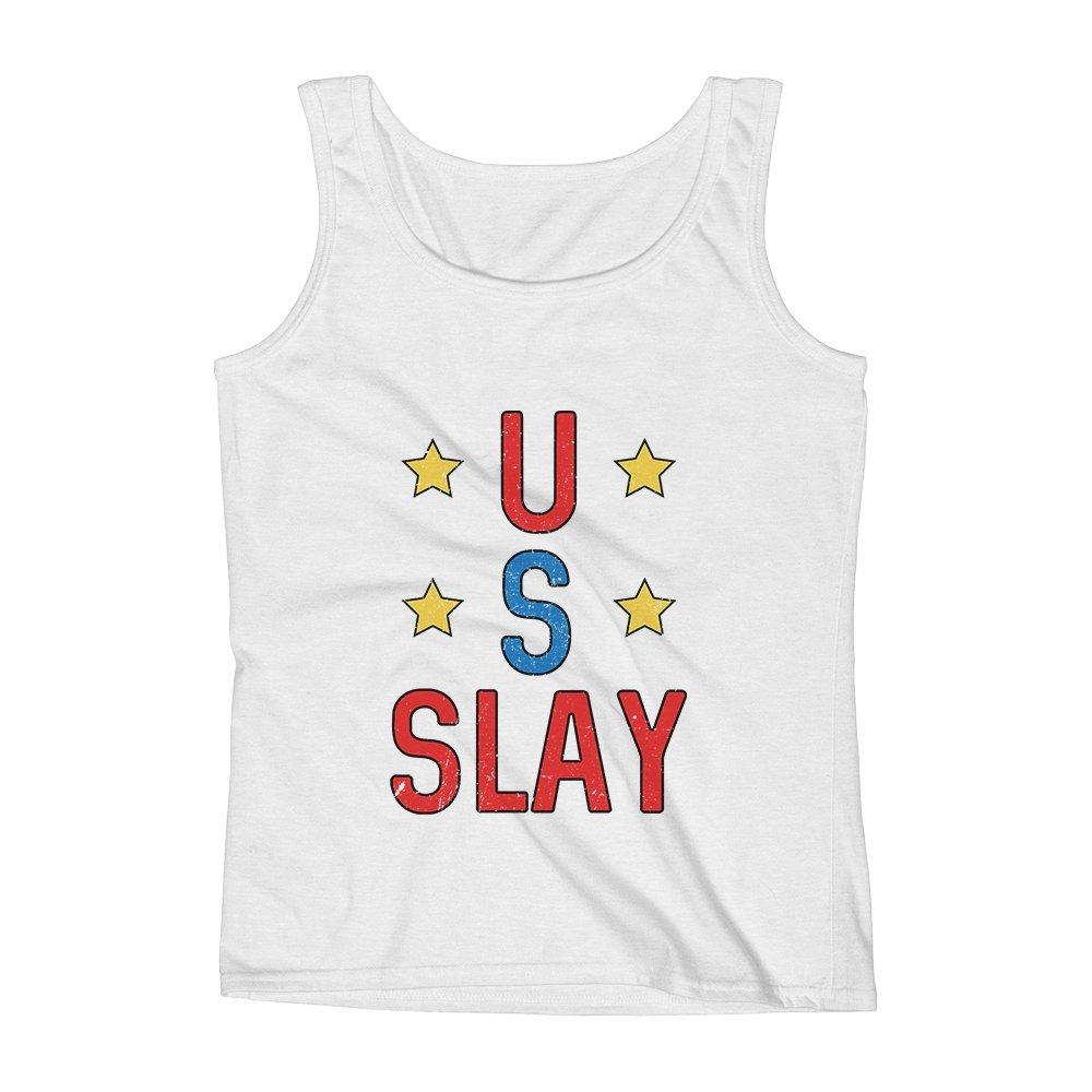 Mad Over Shirts US Slay Unisex Premium Tank Top