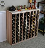 Creekside 64 Bottle Premium Table Wine Rack (Redwood) by Creekside - Exclusive 12 inch deep design with solid sides. Hand-sanded to perfection!, Redwood