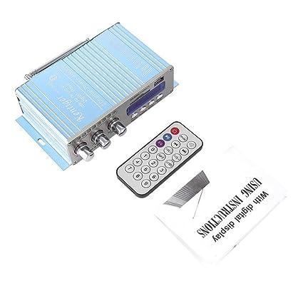 Prom-note Amplificador de potencia HY502S Mini Digital Audio Estéreo Amplificador fidelidad Hi-Fi