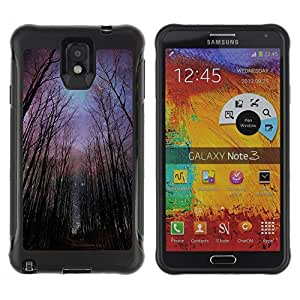 BullDog Case@ Night Forest Sky Universe Creepy Rugged Hybrid Armor Slim Protection Case Cover Shell For Note 3 Case ,N9000 Leather Case ,Leather for Note 3 ,Case for Note 3 ,Note 3 case