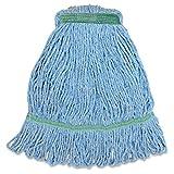 Genuine Joe narrow band medium mophead - eamed blend looped mop, blue