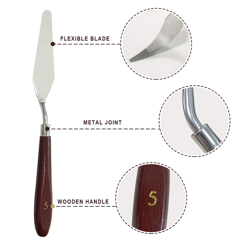 Amazon.com: PHOENIX Juego de 5 cuchillos de pintura, de ...