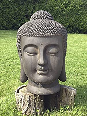 Loft Asia Cabeza de Buda Gigante 70 cm decoración Zen para Interior/Exterior, jardín Zen: Amazon.es: Jardín