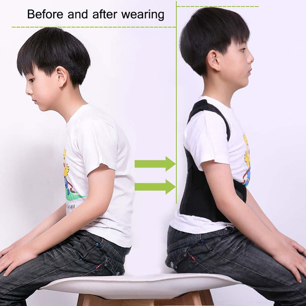GAIHU Posture Corrector Back Shoulder Waist Support Breathable Waistband For Child Student Posture Correction,XL by GAIHU (Image #4)