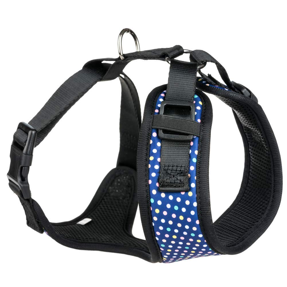bluee LargeDog Harness NoPull Pet Harness Adjustable Outdoor Pet Vest Nylon + mesh Material Vest for Dogs Easy Control for Small Medium Large Dogs