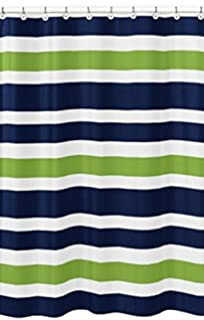 Amazoncom Navy Blue Lime Green and White Kids Bathroom Fabric