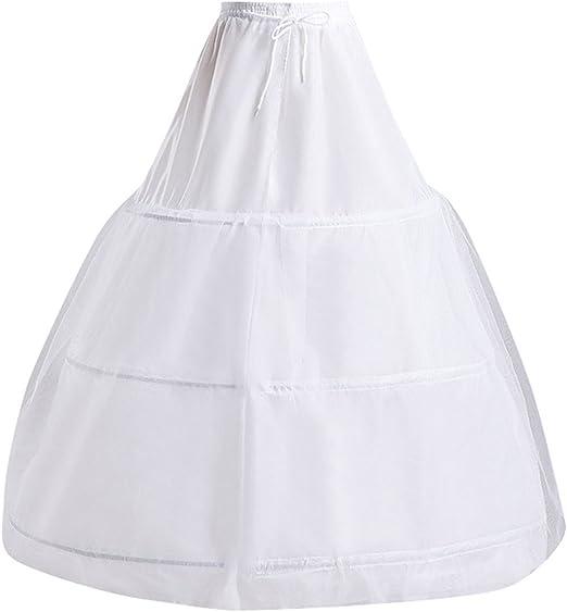 iShine Enagua Miriñaques Falda de Hilo Falda de Novia de Tocar ...