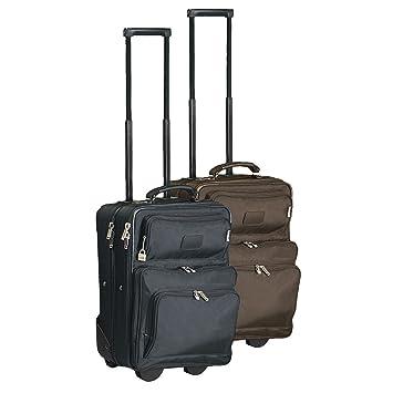 """Compacto 15 """"ordenador portátil TSA maletas con ruedas, color marrón"""