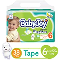 Babyjoy Compressed Diamond Pad Diapers, Mega Pack Junior XXL Size 6 Count 38 - +16Kg