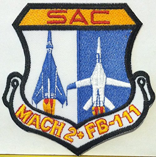 US F-111 AARDVARK SAC MACH 2 IRON-ON Morale Patch TAC, used for sale  Delivered anywhere in USA