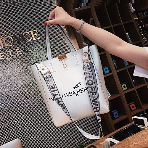 Costura pequeña de Lentejuela Paquete Retro Transparente Color Bolso de impresión Carta Mujer Cuadrada láser Bolsa Contraste Bolsa Tendencia gelatina de TttUwxCqf