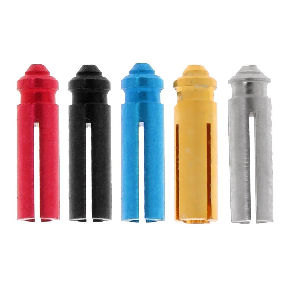 Dovewill 45 Pieces/Set 5 Colors Aluminium Alloy Dart Flight Protector Saver Accessories Red/ Black/ Blue/ Gold/ Silver