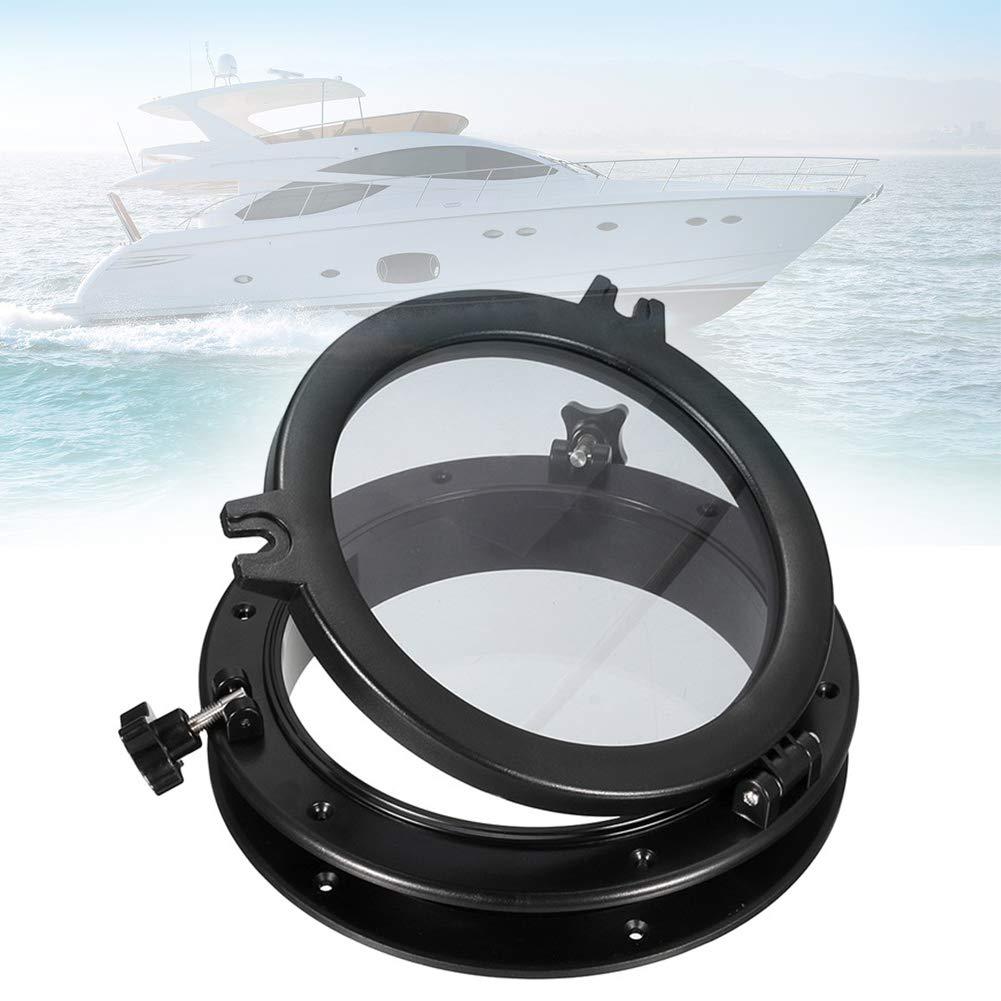 Port Hole Marine//Fen/être//Hublot Hublot de Bateau 2PCS Fen/être Marine de trou de Port Hublot rond de Remplacement pour Yachts de Bateau noir