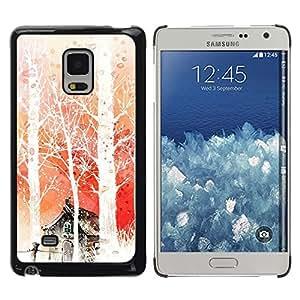 Caucho caso de Shell duro de la cubierta de accesorios de protección BY RAYDREAMMM - Samsung Galaxy Mega 5.8 - Nature Japanese Fantasy Forrest