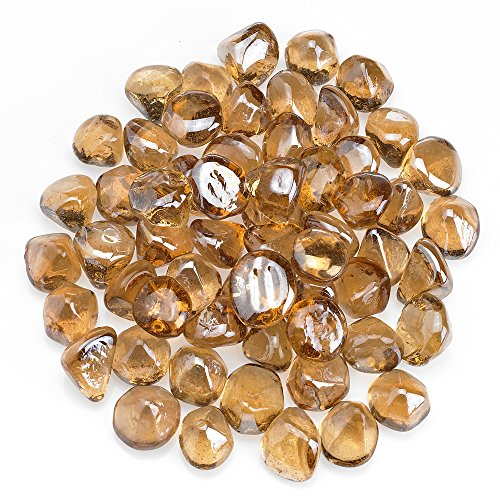 Coming Deco Glass Zircon Fire Glass Fire Diamonds 1-Inch 10-Pounds (Champagne Luster) (Glass Fire 2 Reflective 1)