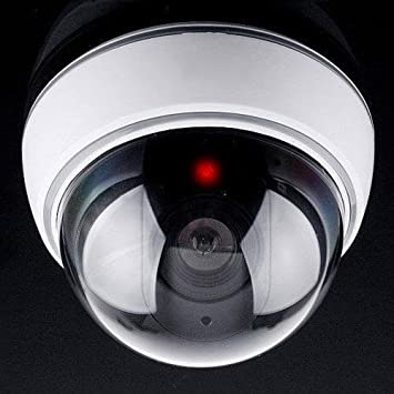 Clomana Realistic Look Dummy Security Fack CCTV Camera for Home Office,Shop, School, Company, Multi