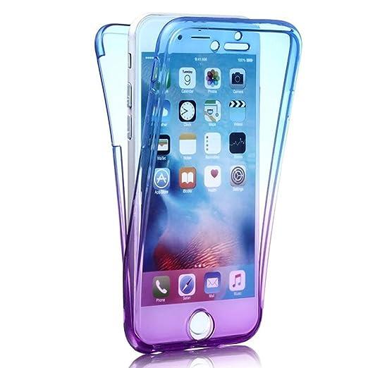"""119 opinioni per Custodia Full body iphone 6 6s 4.7"""", Sunroyal® Cover Front Retro TPU Trasparente"""