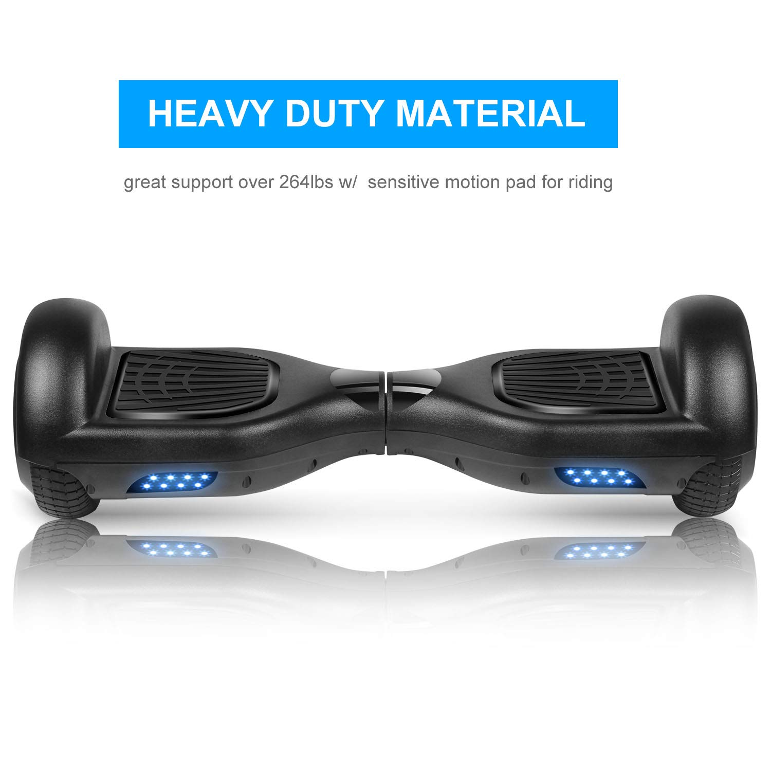 SWEETBUY Hoverboards UL Certified 6.5 Smart Scooter Two-Wheel self Balancing Electric Scooter Light Free Bag and Charger Included by SWEETBUY (Image #5)