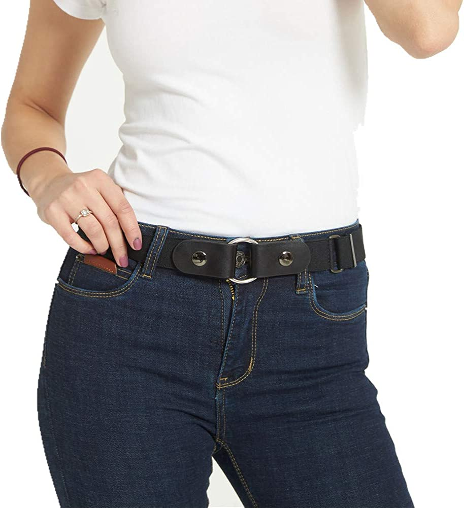 Buckle-free Elastic Womens Comfortable Invisible Belt for Jeans No Bulge Hassle