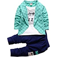 Aile Rabbit Si Noir Boy's Cotton Text Print Full Sleeves Jacket Style T-Shirt and Pant Set Green