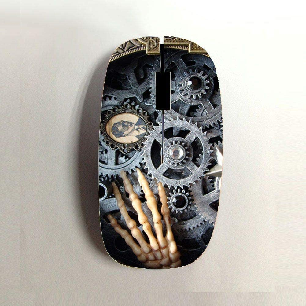 Babu Building Womon Hard Abs  Have Clock Wheel for Bluetooth Mouse