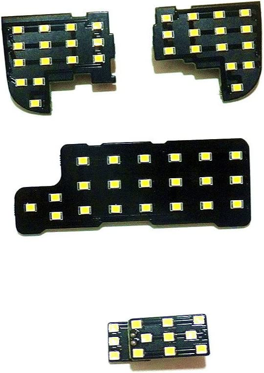 Alto Brillo 6000K Blanco July King 4 Piezas LED Luces interiores de la lectura del coche para Accord 7th 2003-2007 2835 LED Chips SMD