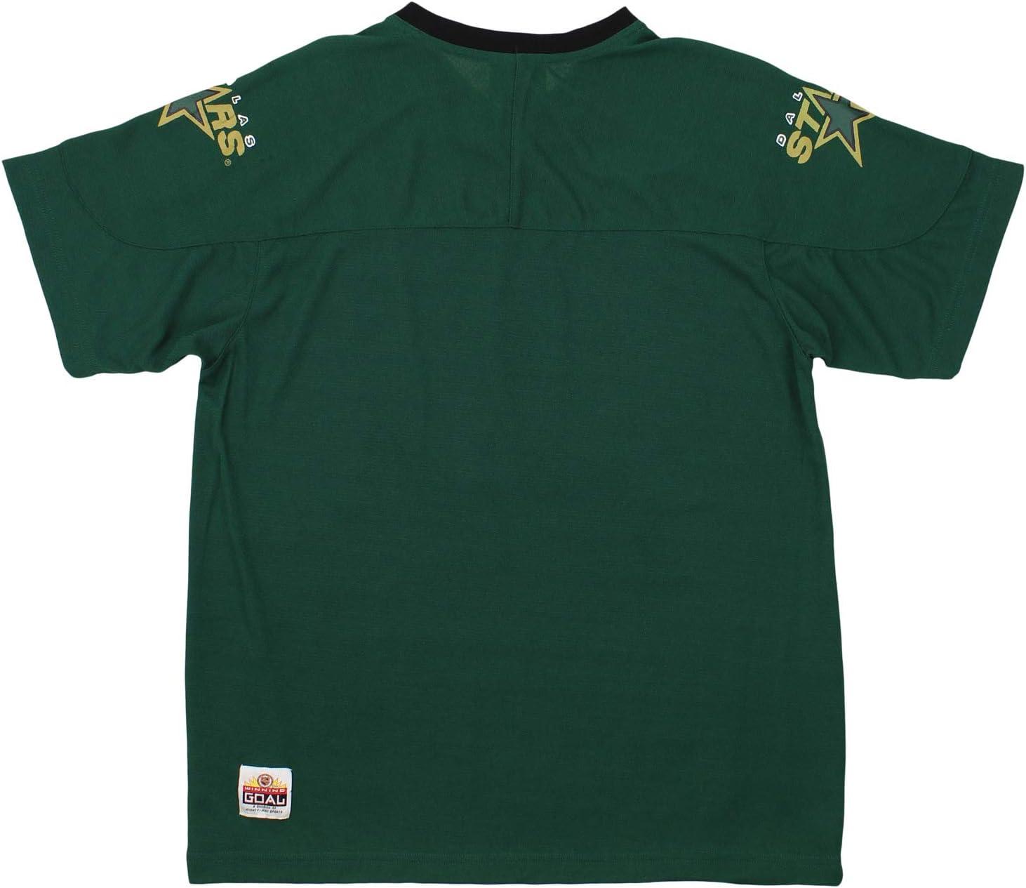 Dallas Stars NHL Boys Youth Vintage Short Sleeve Mesh Knit Shirt Grey
