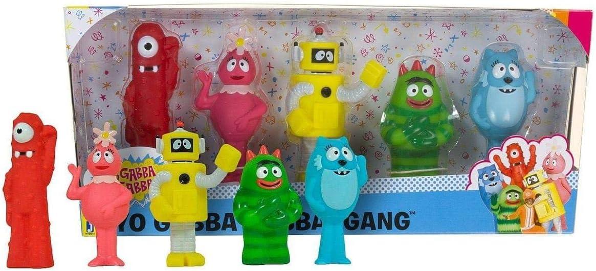 Amazon Com Yo Gabba Gabba Gang 5 Set Muno Brobee Toodee Foofa Plex Toys Games