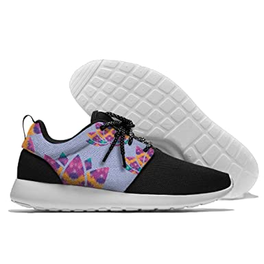 Tie Dye Lotus Flower Mens Sports Sneakers Lightweight Mesh Shoes