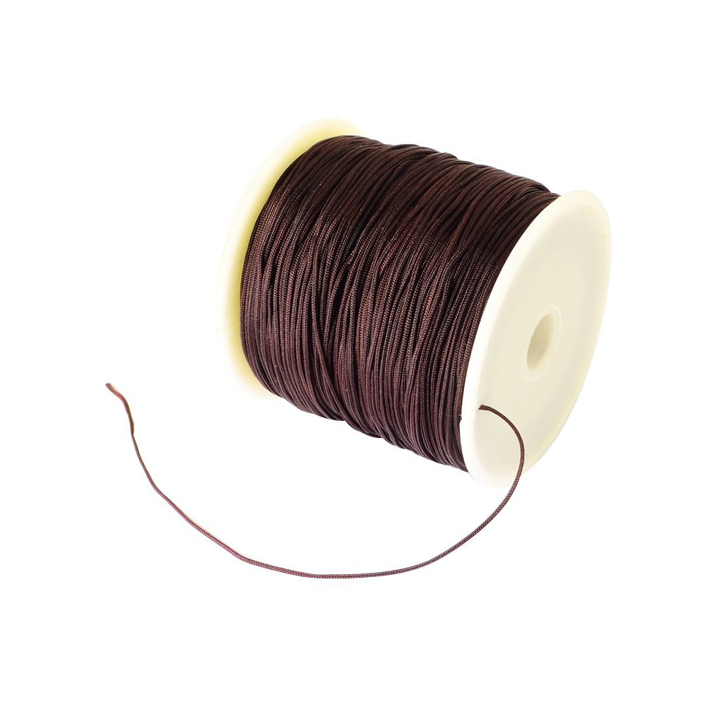 arricraft 1 Roll Braided Nylon Cord 0.5mm Imitation Silk String Beading Thread Craft Cord DIY Jewelry Making, About 150Yard(137M)/roll NWIR-R006-0.5mm-900-US10