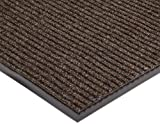 "NoTrax 109 Brush Step Entrance Mat, for Lobbies and Indoor Entranceways, 3 Width x 10 Length x 3/8"" Thickness, Brown"