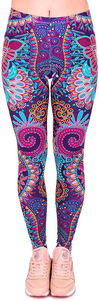 Wear It To Heart Women/'s Fitness Leggings Urban Camo Blue