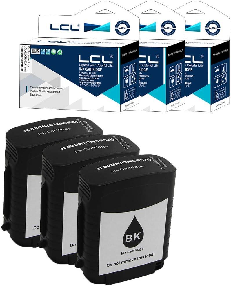 LCL Cartucho de Tinta Compatible 82 CH565A (3 Negro) Reemplazo ...