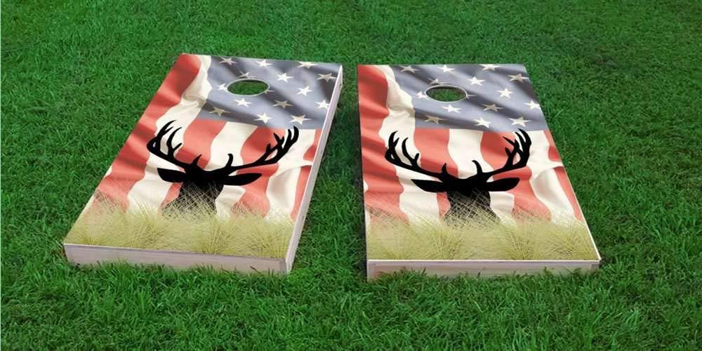 ふるさと納税 Skip's (Corn) Garage アメリカンヘラジカコーンホールボード - - バッグとアクセサリーを選択 4) - ボード2枚 バッグ8枚など B07PC2P87J 4) American Flag Bags (Corn)|D. ボードのエッジライト付き 4) American Flag Bags (Corn), SEVENSEAS:814f84f4 --- arianechie.dominiotemporario.com