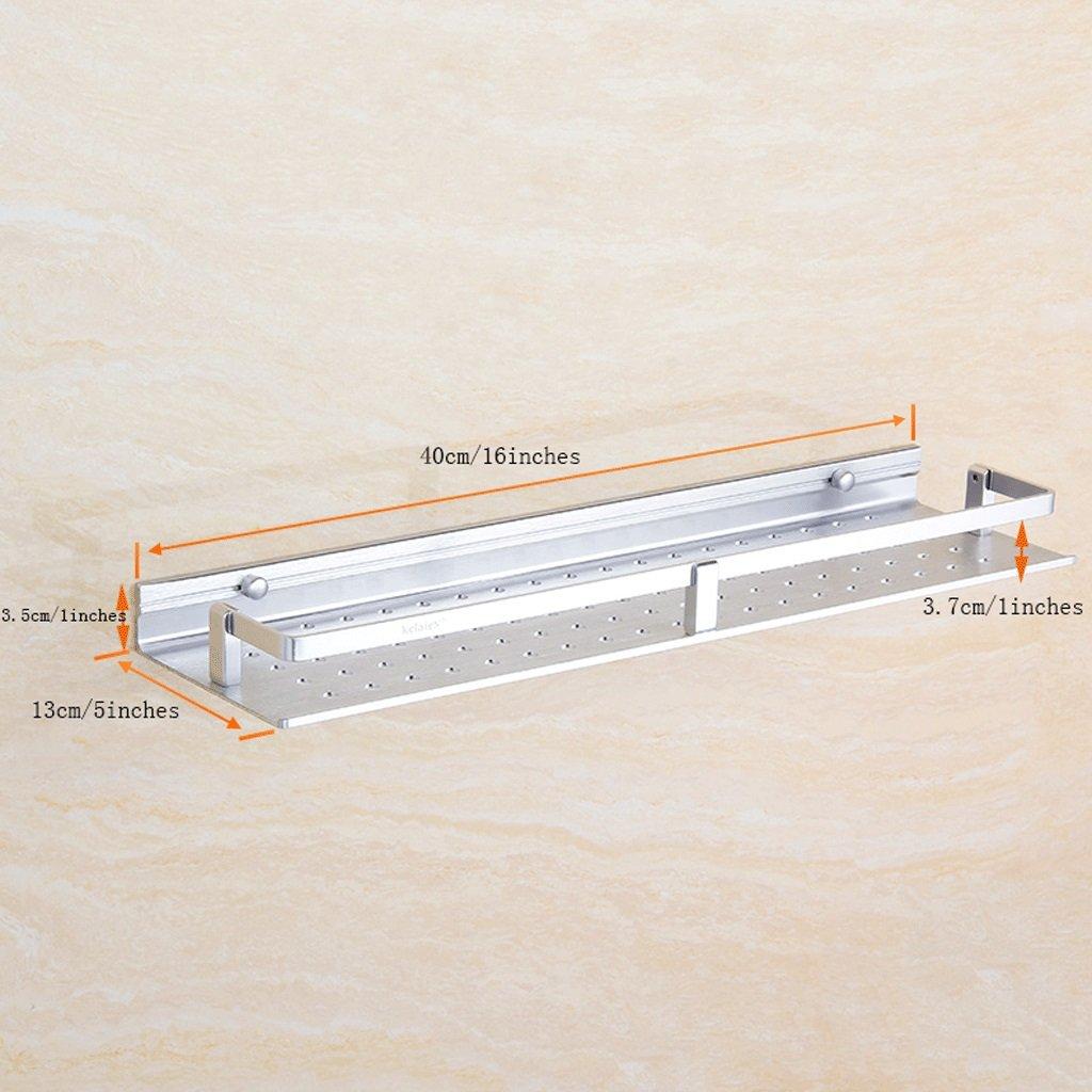 YXN Space Aluminum Bathroom Frame Bathroom Square Metal Pendant Bathroom Single Floor Bathroom Storage Rack (Size : 40cm)