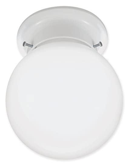 Good Earth Lighting GLC1301 WHES I 13W GU24 Ecolight Ball Closet Light  White,