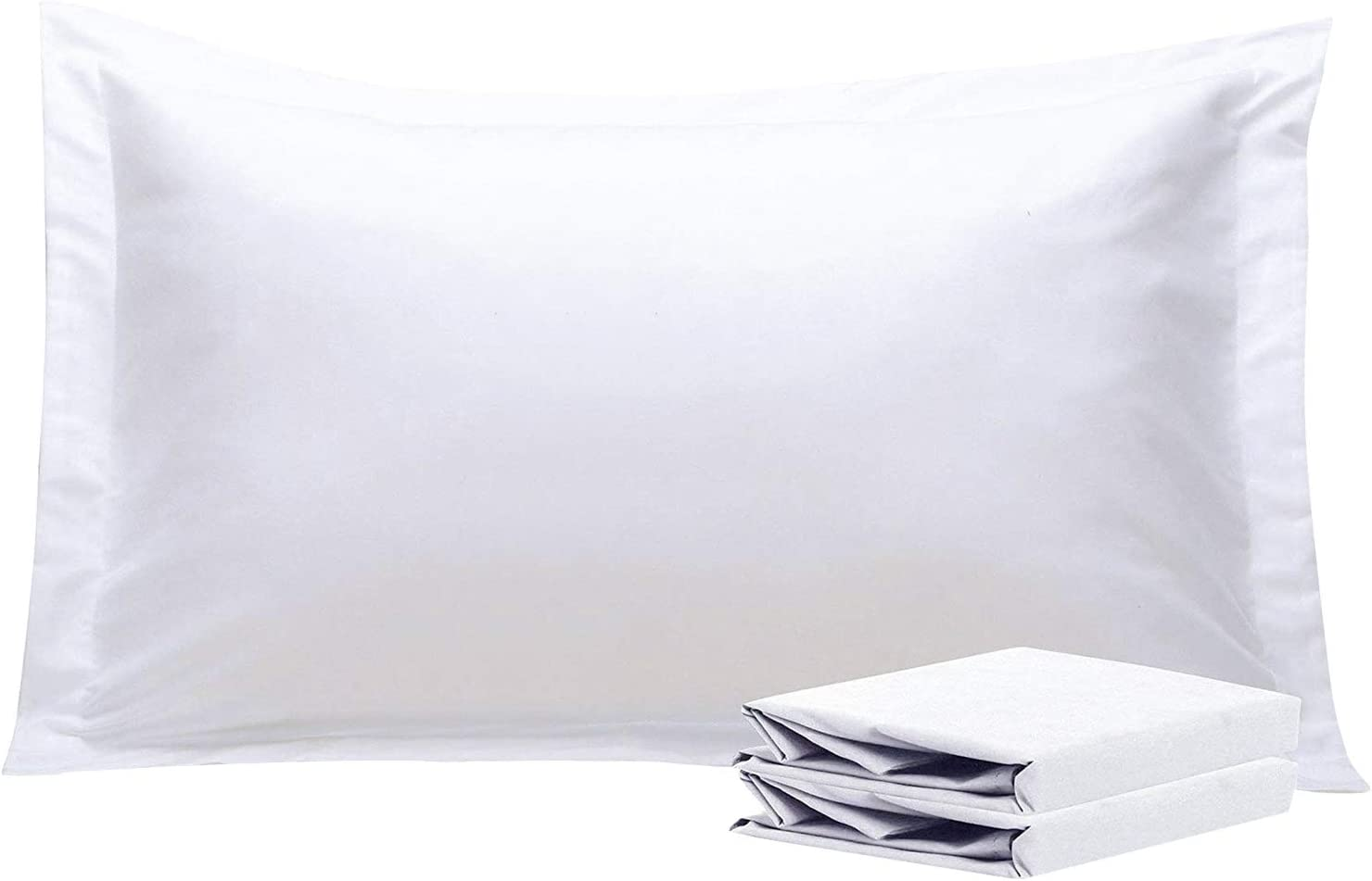 Shop King Pillow Shams, Set of 2, 100% Brushed Microfiber from Amazon on Openhaus