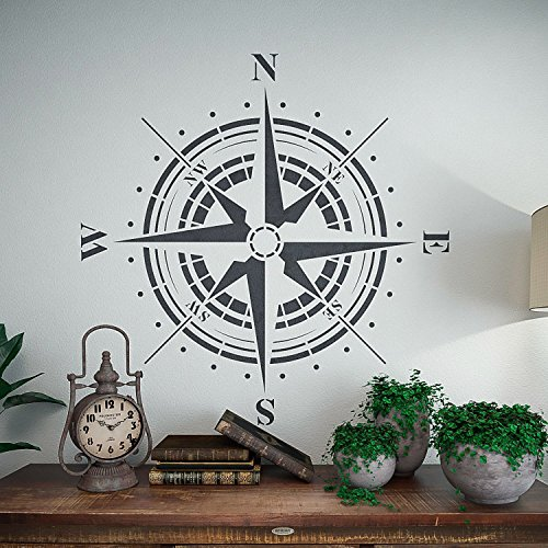 Traveler- Compass Rose Stencil - Reusable Stencil for Painting by StencilsLab Wall Stencils (Image #3)