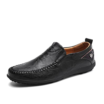 d2b3431f2cb9b Italian Men Casual Shoes Summer Genuine Leather Men Loafers Moccasins Slip  On Men's Flats Breathable Male