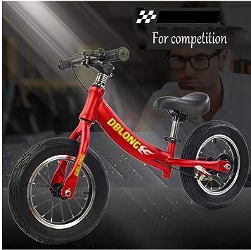 Bicicleta de Equilibrio for Niños Sin Pedal Rueda de Goma Ligera Niños 2-6 Años Marco de Aleación de Aluminio Niño Pequeño Bicicleta de Entrenamiento for Correr (Color : Red) : Amazon.es: